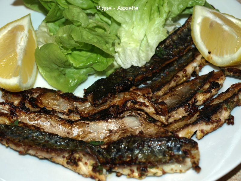 Aiguillettes de maquereau marinees a la plancha pique - Accompagnement sardines grillees barbecue ...