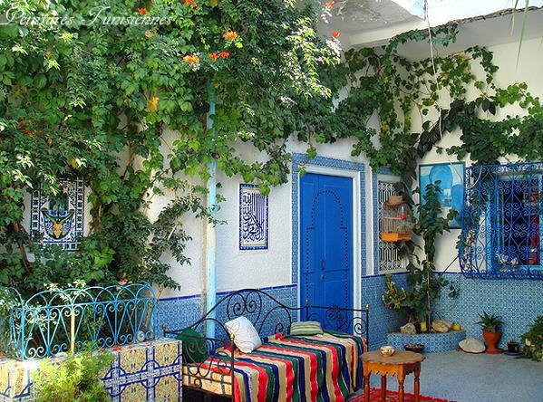 Architecture tunisienne traditionnelle for Maison prefabriquee tunisie