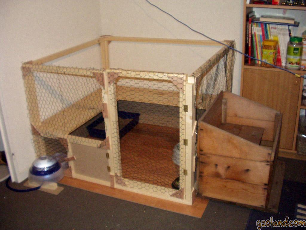 Le terrier des lapins afficher le sujet l 39 habitat de calin for Construire une cage a lapin exterieur
