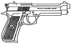 Arsenal armes de poing - Pistolet a colorier ...