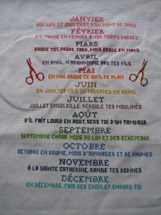 Le calendrier de la brodeuse mes petits doigts for 11 commandements piscine