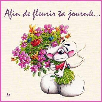 Joyeux anniversaire timide for Bouquet de fleurs humour