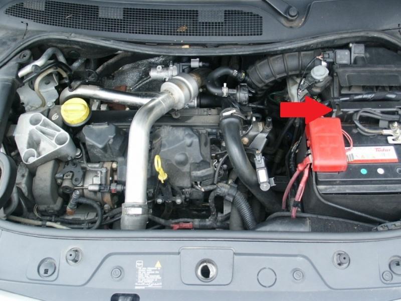 Emplacement boitier prechauffage megane 2 1 9 dci