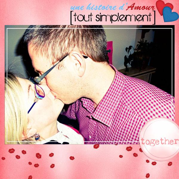 kit une histoire d'amour tout simplement simplette page leaugoscrap