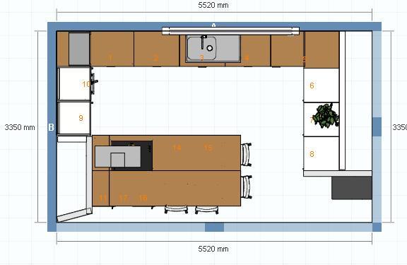 avis sur une implantation de cuisine 6 messages. Black Bedroom Furniture Sets. Home Design Ideas