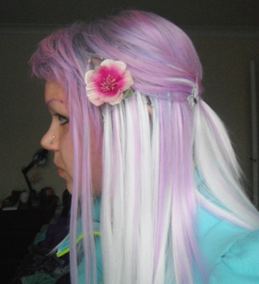 White lilac monofibre install hair extensions forum obvious join where my hair is short at the back also is half shaved off pmusecretfo Images