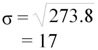 Calcul de l'écart type