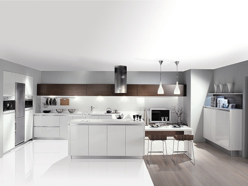 Une cuisine sans meuble haut for Meuble cuisine haut blanc