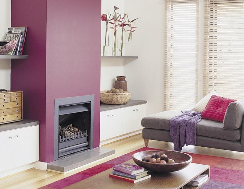 Relooker mon salon - Mur couleur prune ...