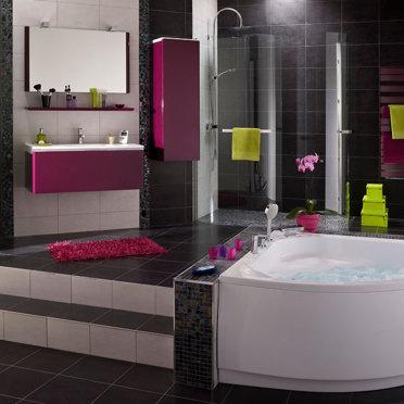 Salle De Bain Rose Et Vert: Salles de bains color? es elle d ...