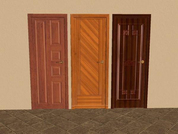 Six wood doors seis puertas de madera a 80 simoleones for Puertas de madera para habitaciones