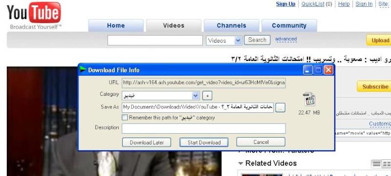 اليويتيوب الفيديو 2010.jpg