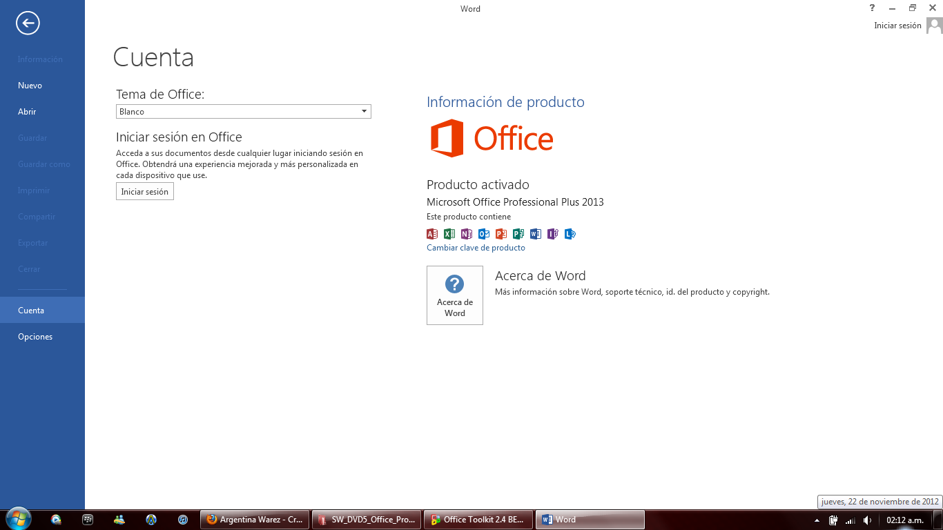 prueba10 Activar PERMANENTEMETE Office 2013