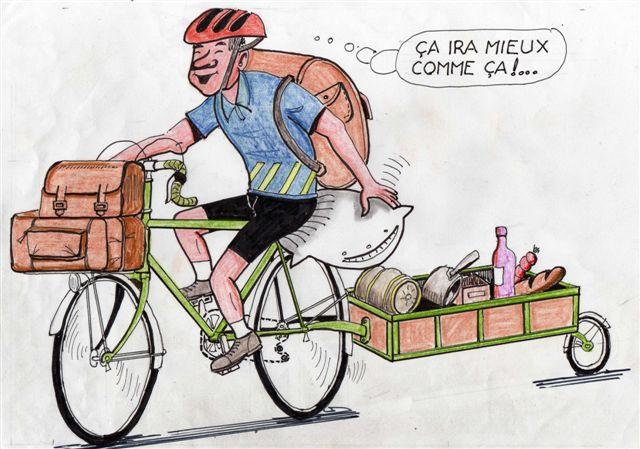 Humour velo fleur - Dessin cycliste humoristique ...